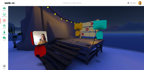 Playing games in the virtual world of Mibo